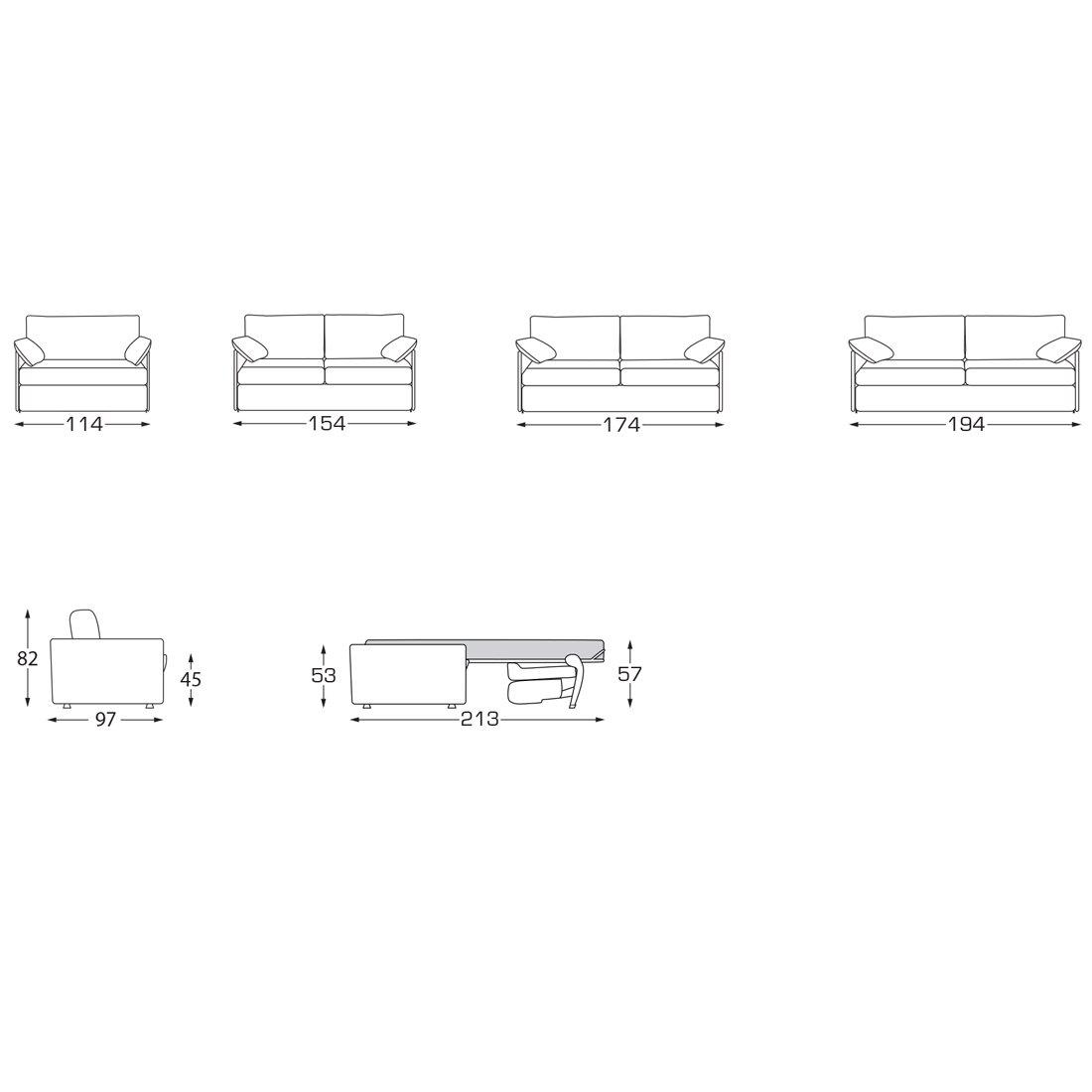 petit canap convertible bastille meubles et atmosph re. Black Bedroom Furniture Sets. Home Design Ideas