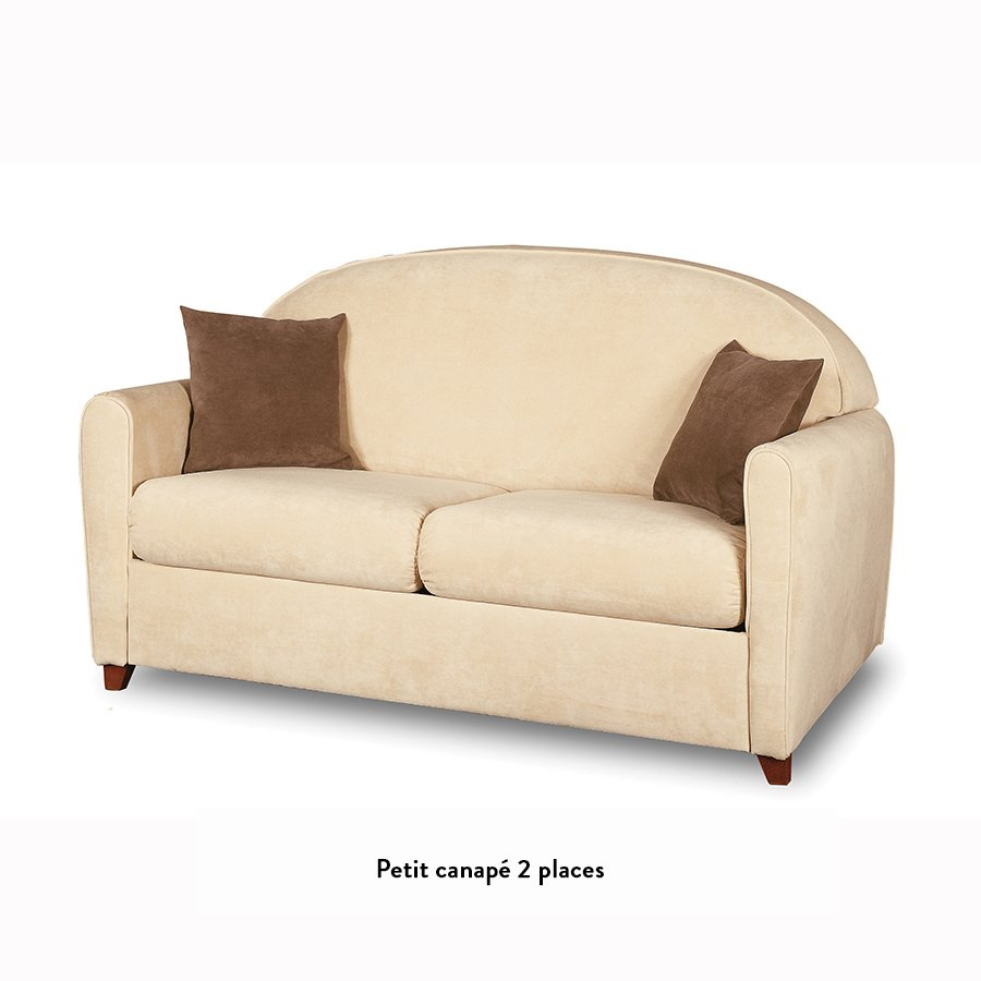Petit canap courcelles meubles et atmosph re for Petit canape rouge
