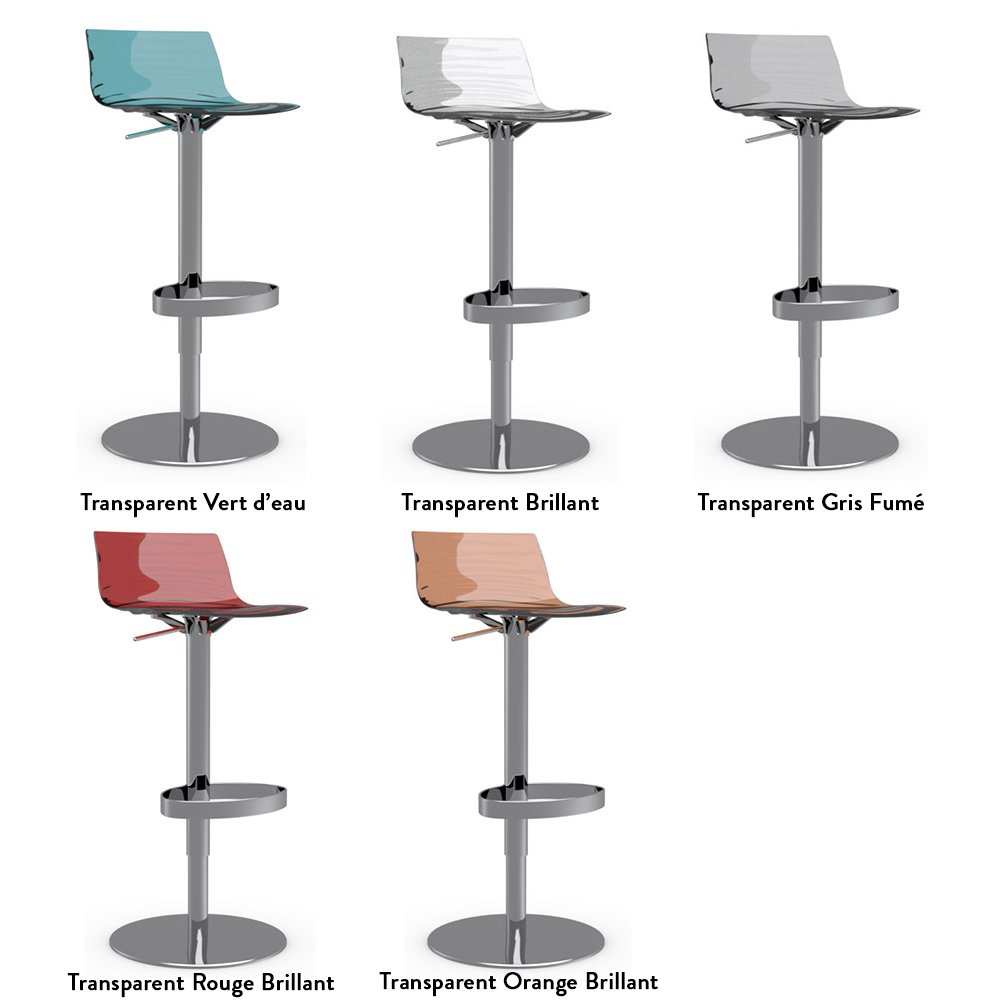 Tabouret de bar pivotant l 39 eau meubles et atmosph re - Tabourets de bar transparents ...