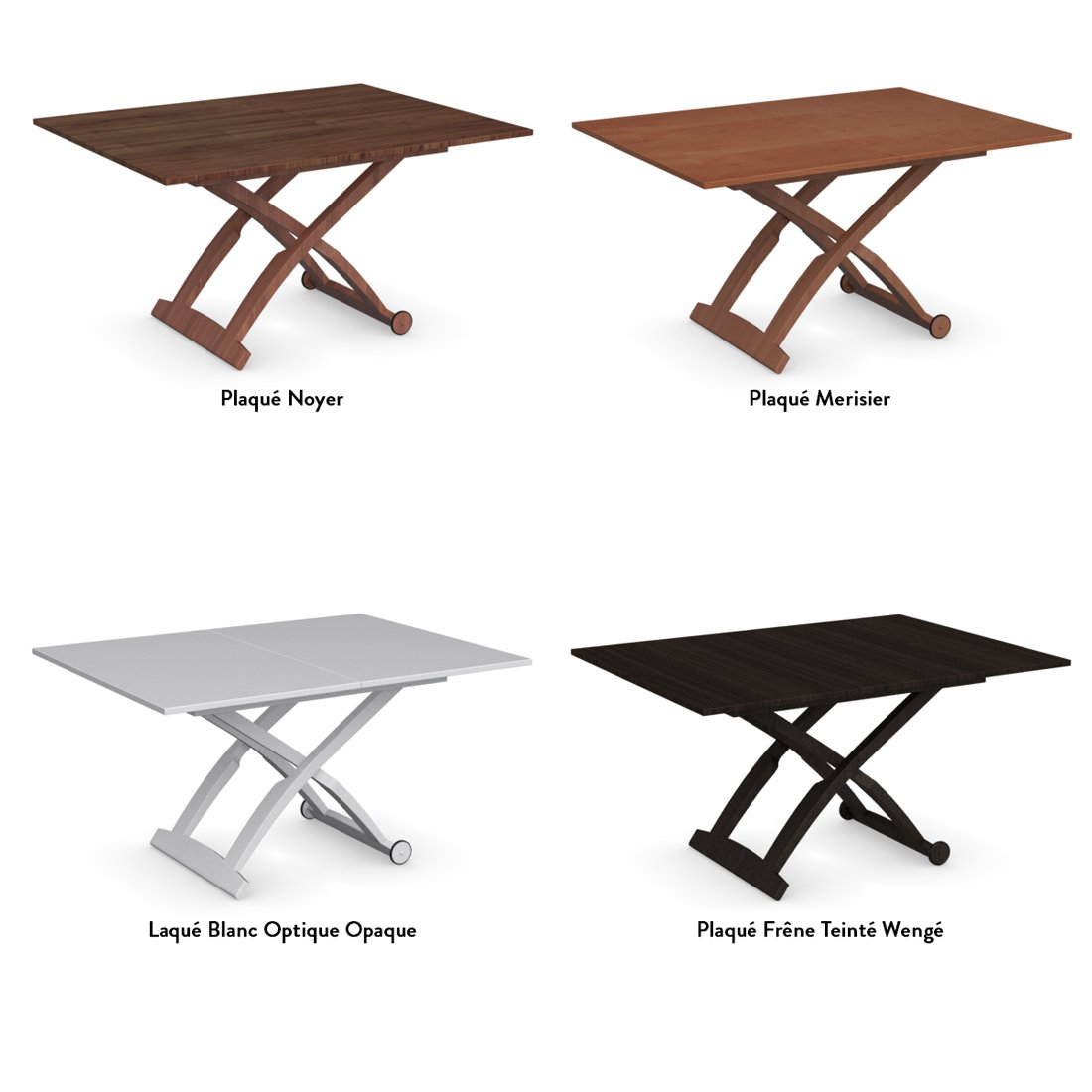 Table basse transformable merisier - Table basse transformable table haute ...