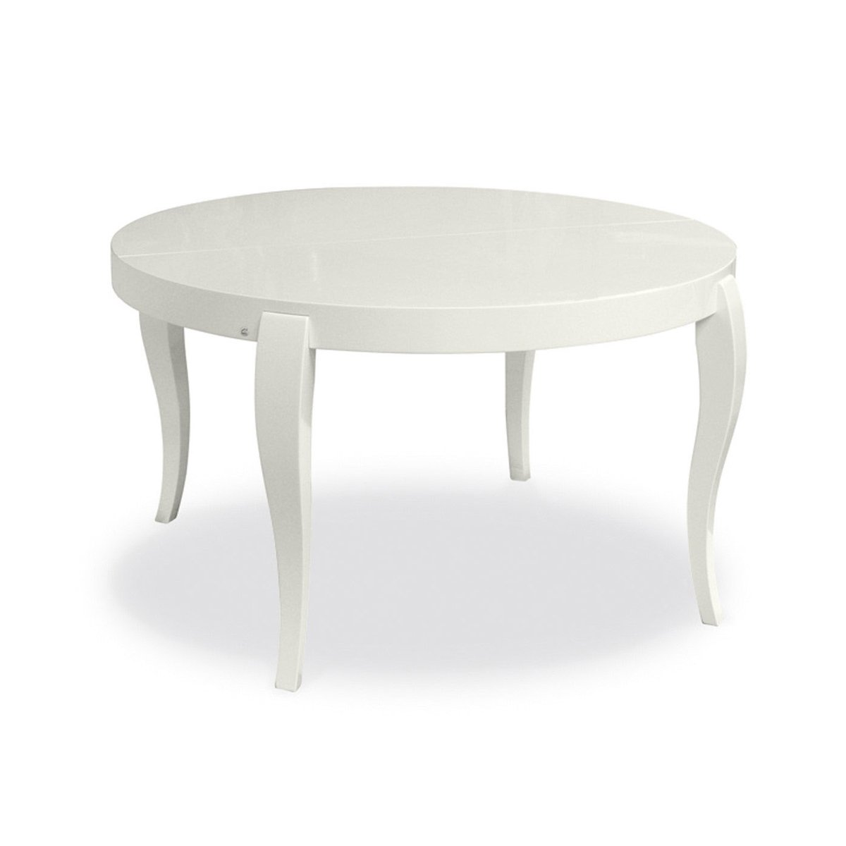 Table de repas extensible ronde regency meubles et for Table ronde laquee blanc extensible