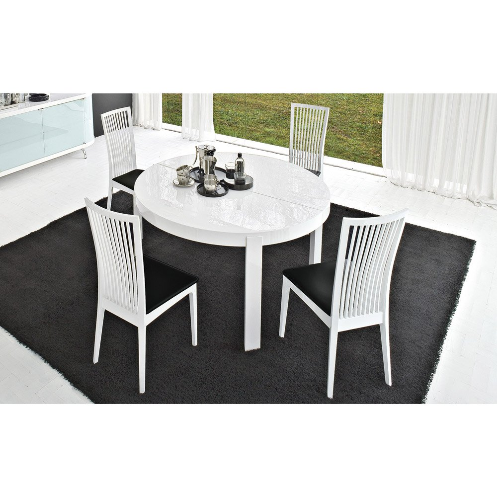 table de repas ronde extensible atelier meubles et atmosph re. Black Bedroom Furniture Sets. Home Design Ideas
