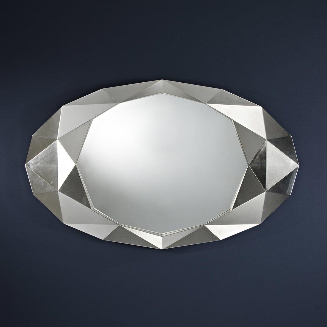 Miroir joyau argent meubles et atmosph re for Miroir d argent
