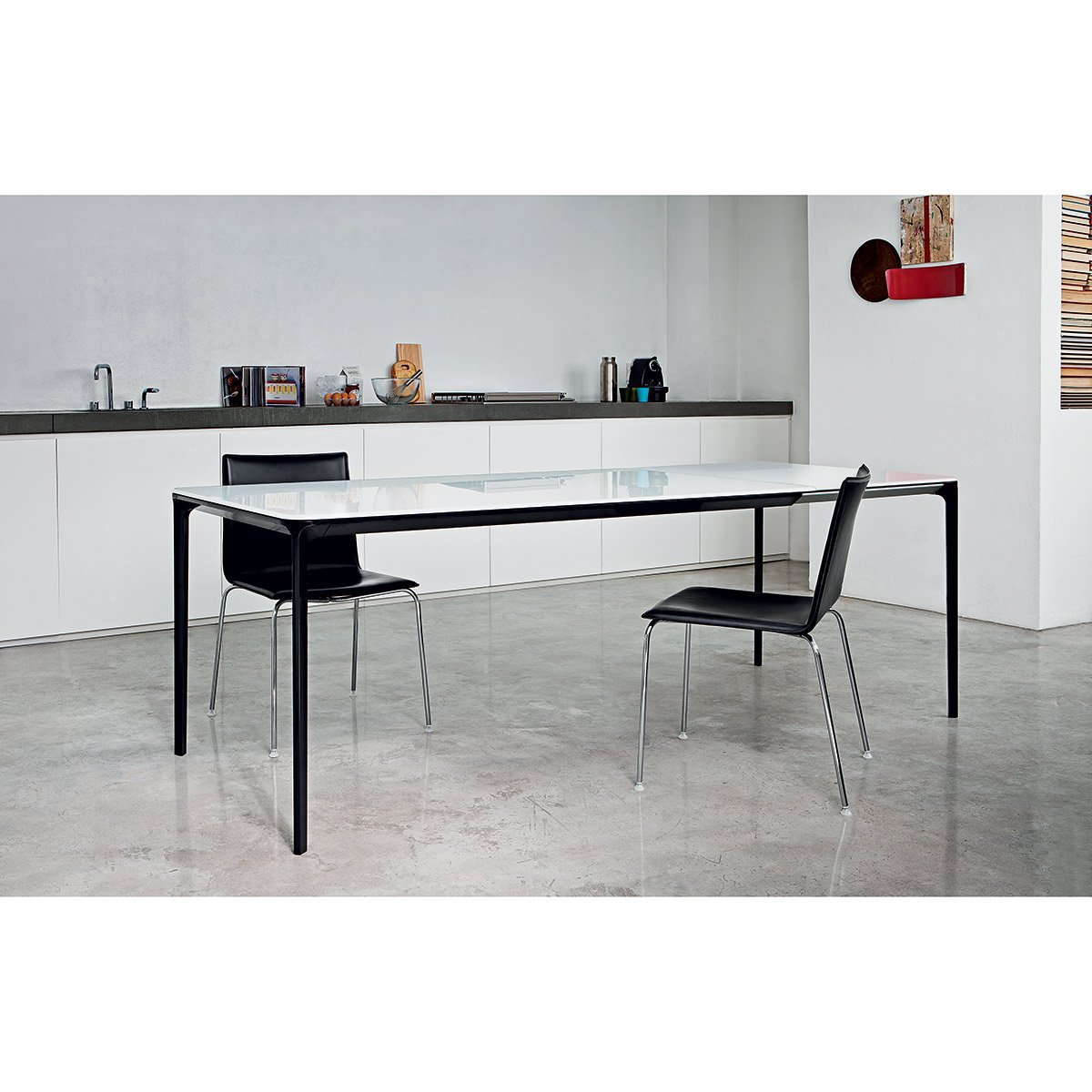 table extensible light pieds noirs meubles et atmosph re. Black Bedroom Furniture Sets. Home Design Ideas
