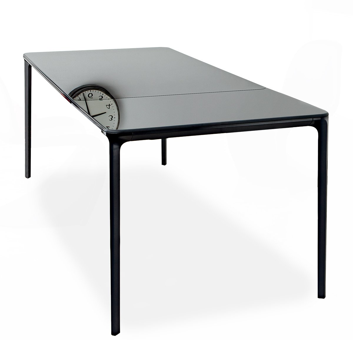 Table verre noir extensible maison design for Table verre extensible