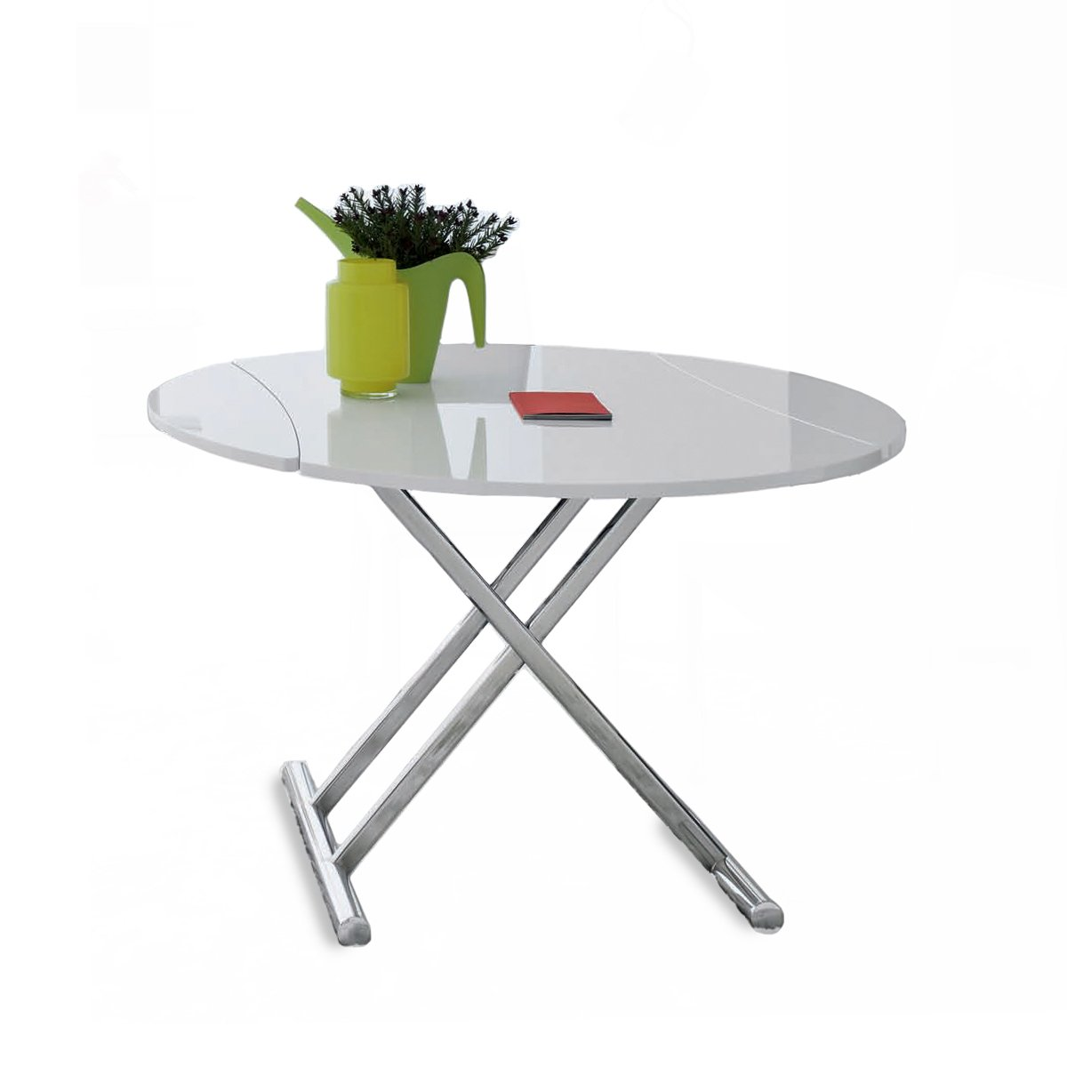 Table basse relevable ronde nice meubles et atmosph re - Table relevable ronde ...