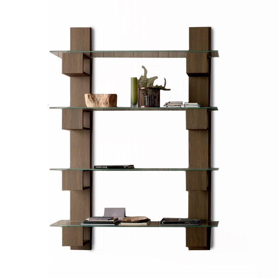 Bibliotheque murale bois home design architecture - Meuble et atmosphere ...