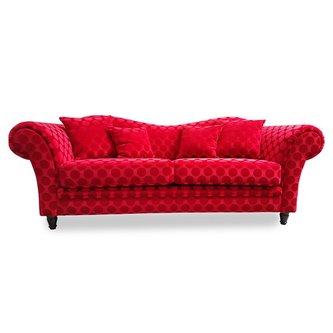 Canape convertible rouge design meubles et atmosphere for Canape convertible avec tapis original