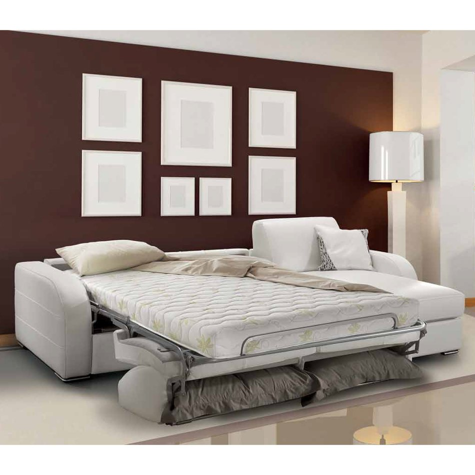 canap d 39 angle convertible blanc meubles et atmosph re. Black Bedroom Furniture Sets. Home Design Ideas