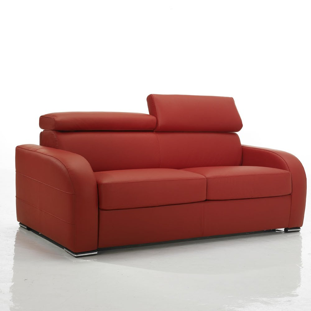 Canap convertible rouge meubles et atmosph re for Canape confortable convertible