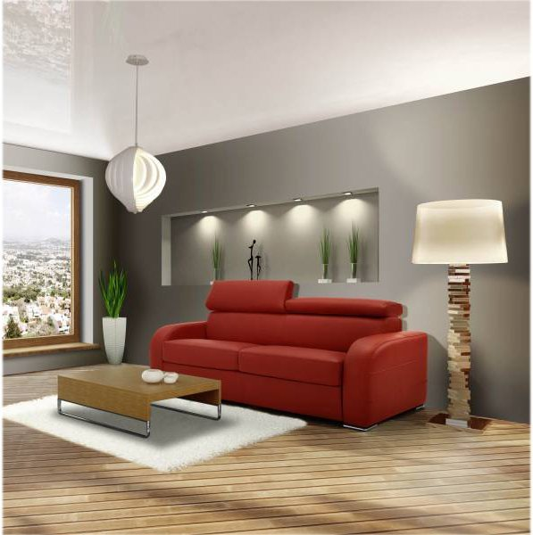 lovely canape lit convertible couchage quotidien 13 canape rouge convertible. Black Bedroom Furniture Sets. Home Design Ideas