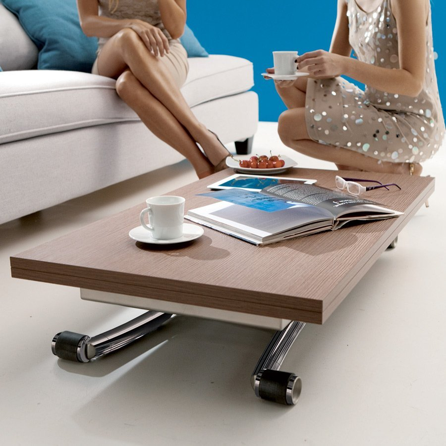 Table basse relevable mini meubles et atmosph re - Table basse gain de place ...