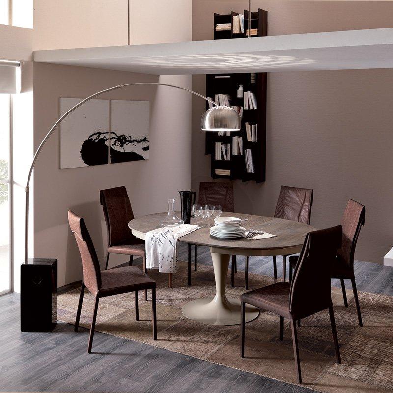 table ronde extensible eclipse bois meubles et atmosph re. Black Bedroom Furniture Sets. Home Design Ideas