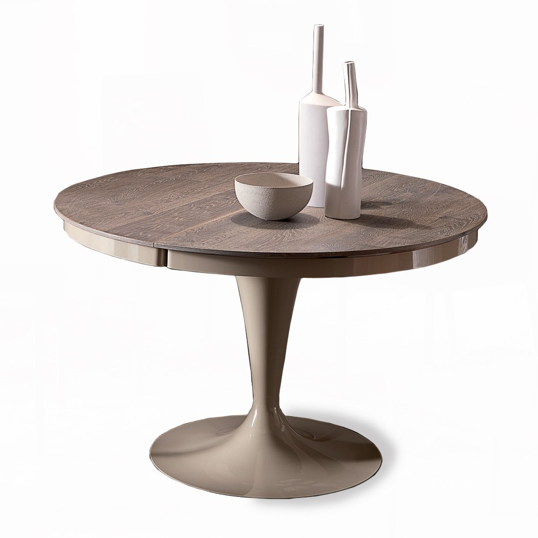 Table Extensible Design Italien table ronde extensible eclipse bois