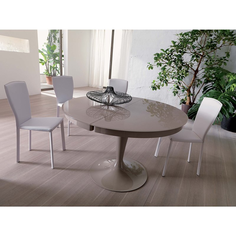 Table ronde extensible eclipse verre meubles et atmosph re - Table ronde extensible design ...