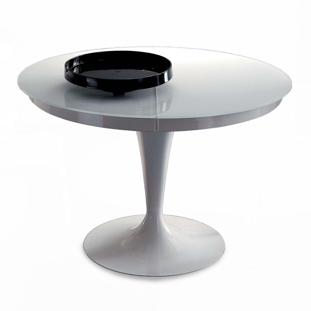 table ronde extensible eclipse verre meubles et atmosph re. Black Bedroom Furniture Sets. Home Design Ideas