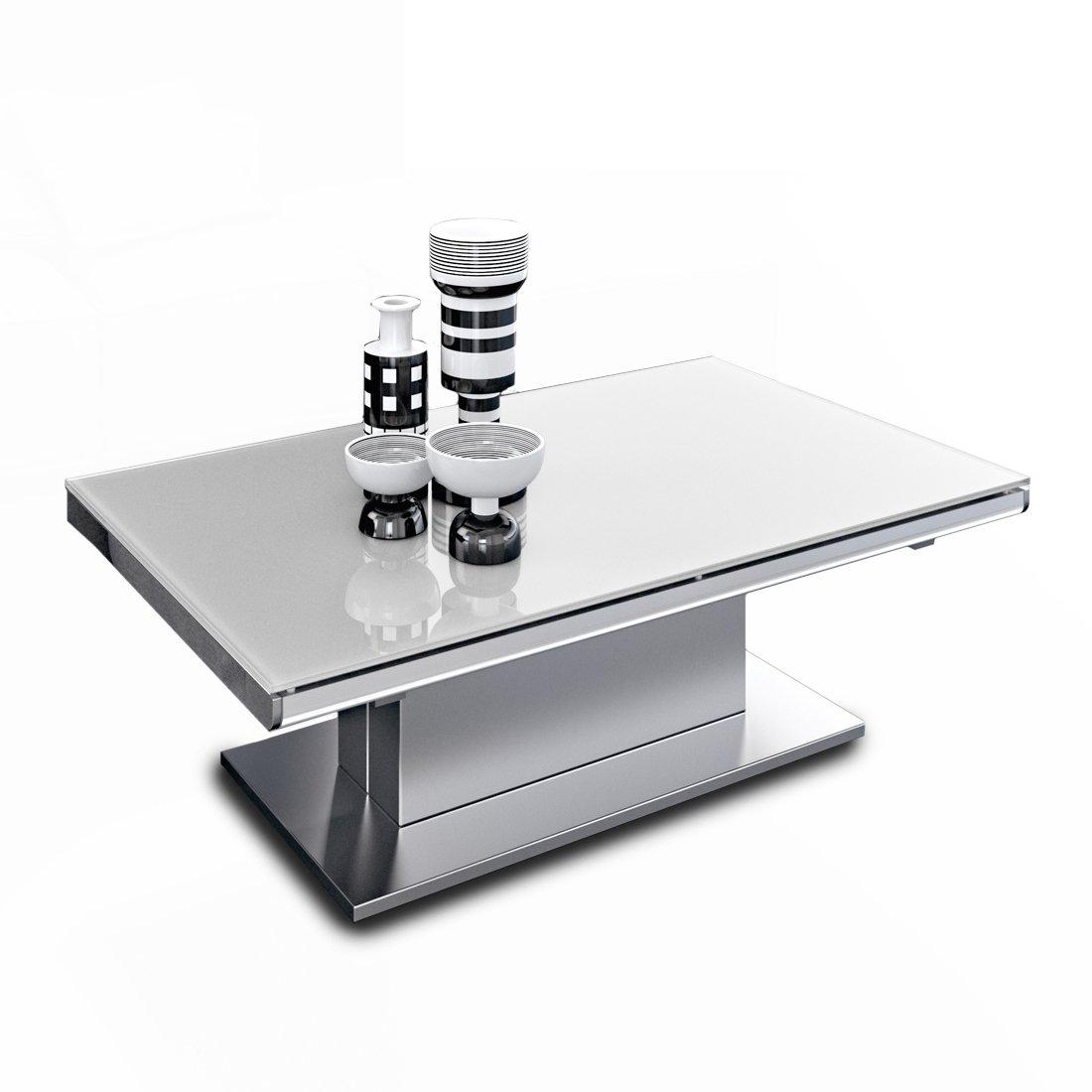 table basse relevable verre acier meubles et atmosph re. Black Bedroom Furniture Sets. Home Design Ideas