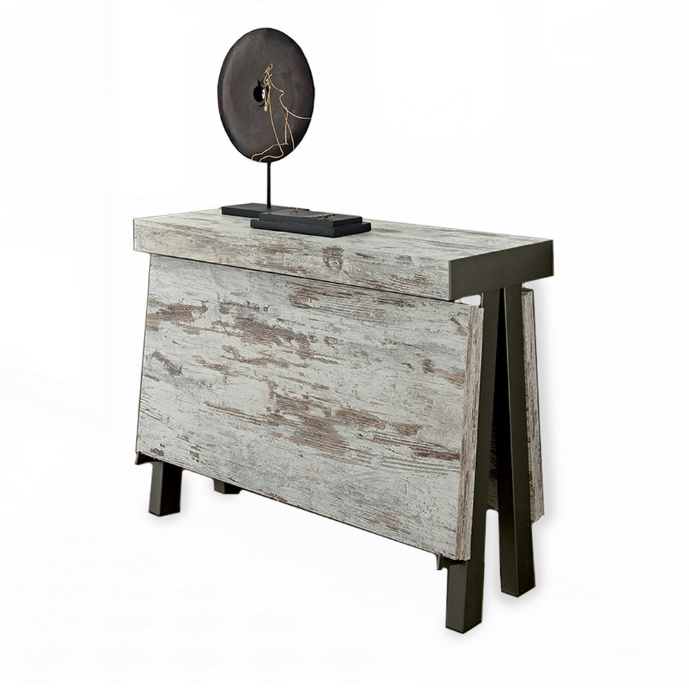 console extensible vintage bois m tal meubles et atmosph re. Black Bedroom Furniture Sets. Home Design Ideas