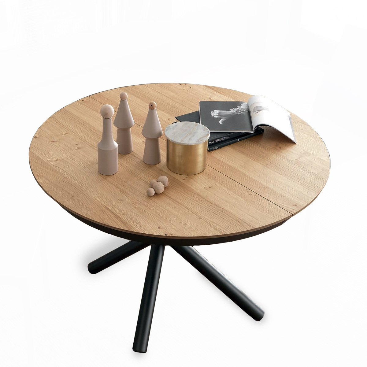 table ronde extensible premium meubles et atmosph re. Black Bedroom Furniture Sets. Home Design Ideas